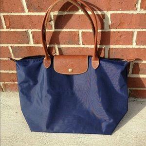 💕MAKE OFFER Longchamp Navy blue tote